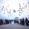 Gruppenfoto Hochzeit mit Ballonen