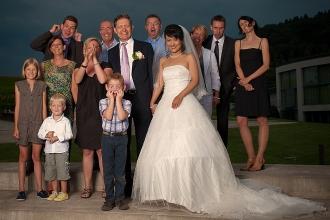 lustige Gruppenfotos Hochzeit